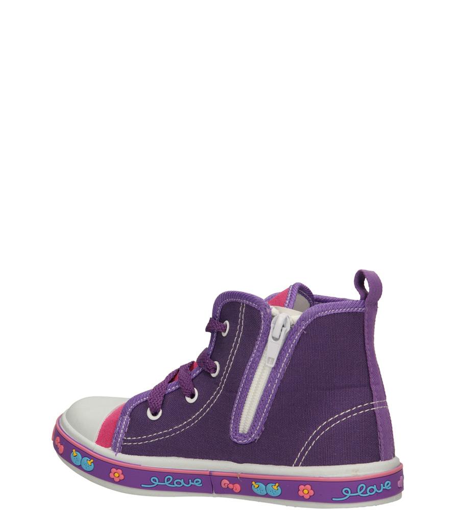 Dziecięce TRAMPKI AMERICAN 3AL020 fioletowy;;