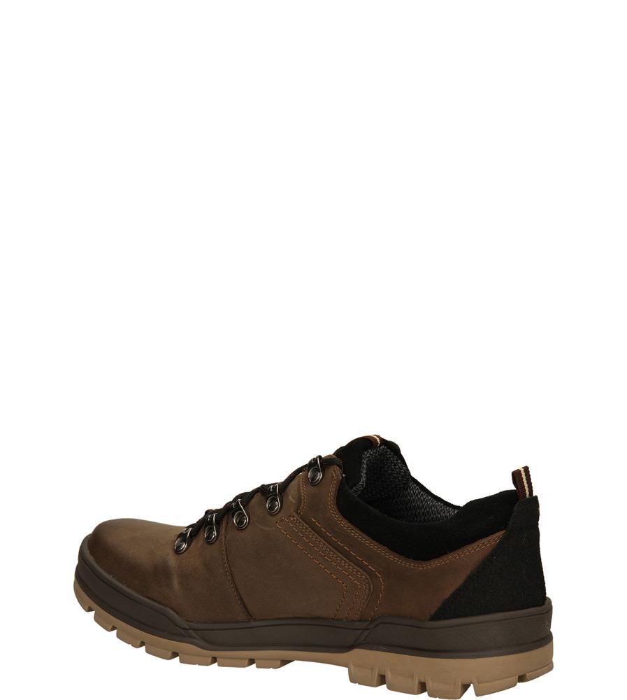 Męskie TREKKINGOWE ENZO 520 brązowy;czarny;