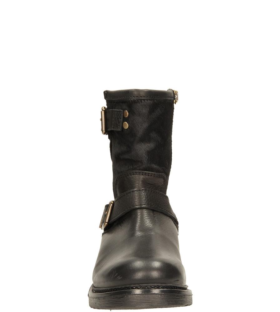 Damskie BOTKI BRONX 44018-F czarny;złoty;