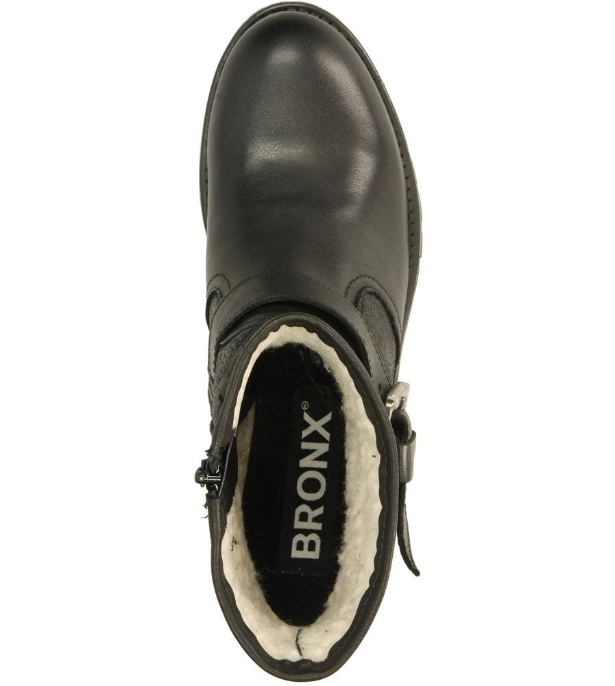 Damskie BOTKI BRONX 44087-B czarny;;