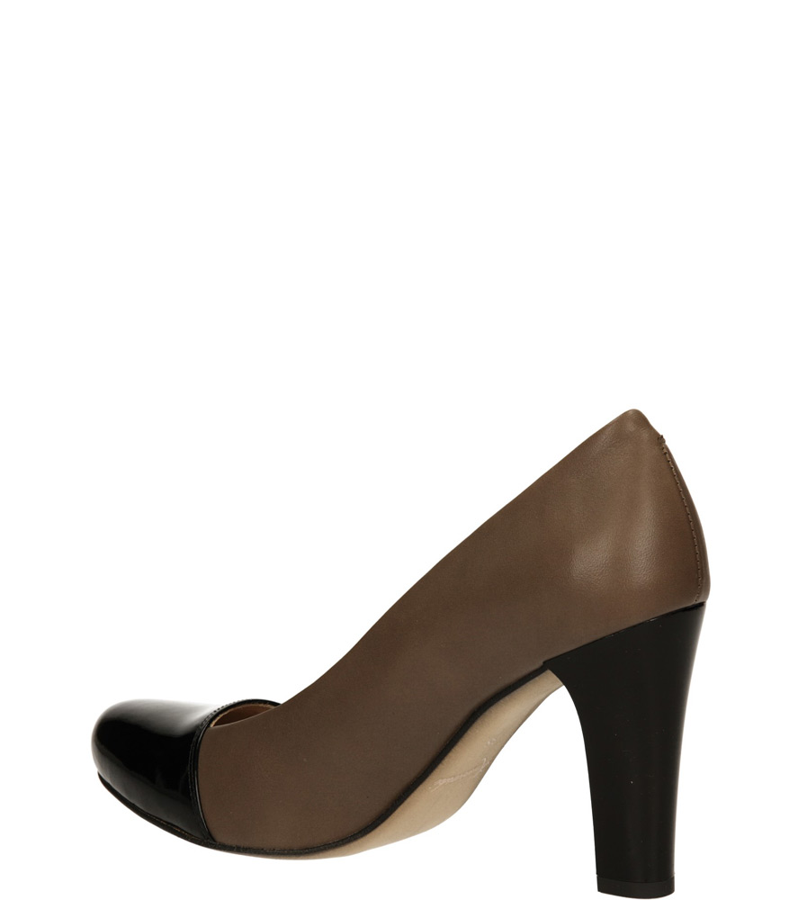 CZÓŁENKA KANIOWSKI K-0513 kolor cappucino, czarny