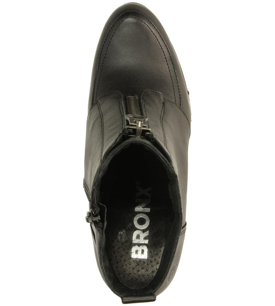 Damskie BOTKI BRONX 33681-A-01 czarny;;