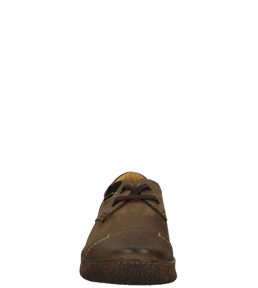 Męskie PÓŁBUTY KACPER 1-0637 brązowy;czarny;