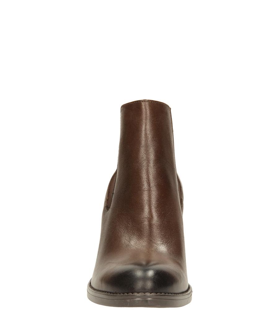 Damskie BOTKI NESSI 58304 brązowy;;