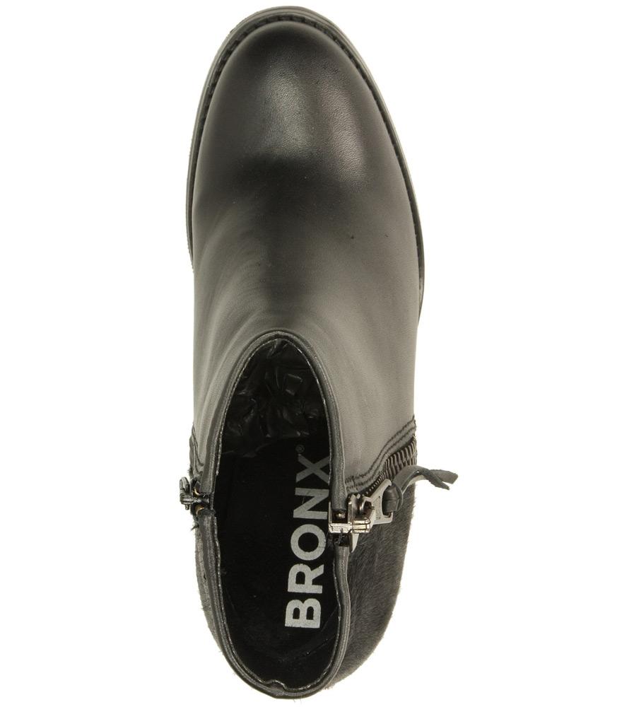 Damskie BOTKI BRONX 33621-M czarny;;