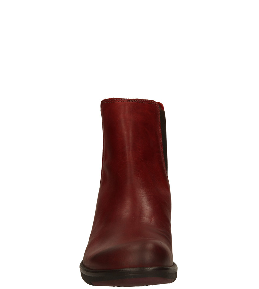 Damskie SZTYBLETY FLY LONDON P14245800 czerwony;;