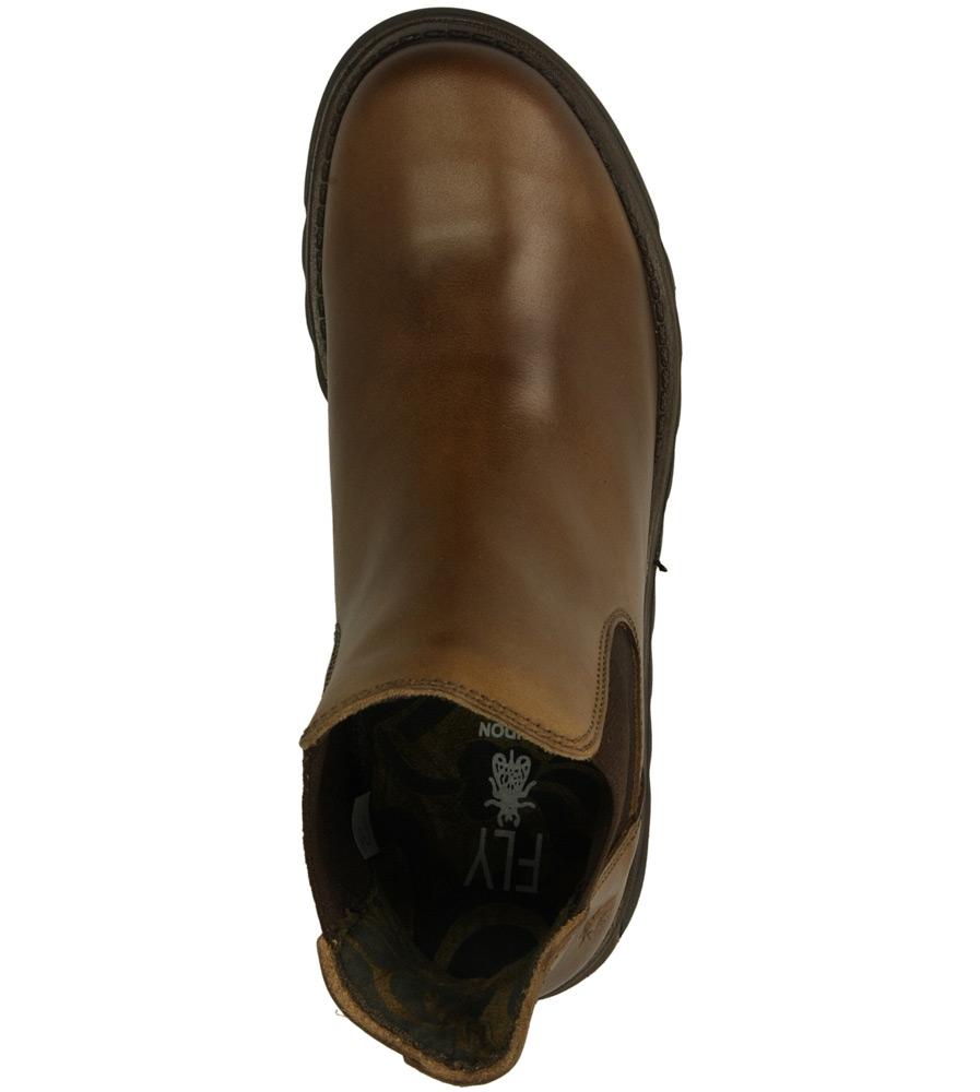 Damskie SZTYBLETY FLY LONDON P14319500 brązowy;;