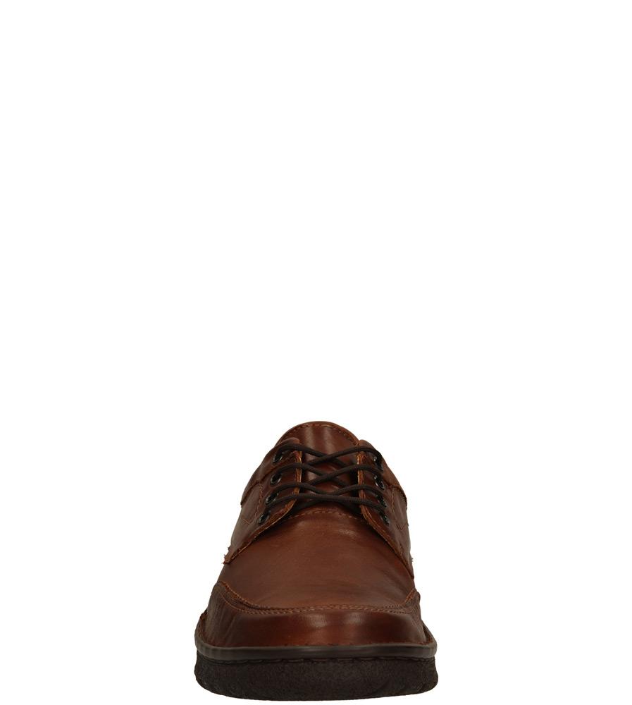 Męskie PÓŁBUTY ŁUKBUT 09470 brązowy;;