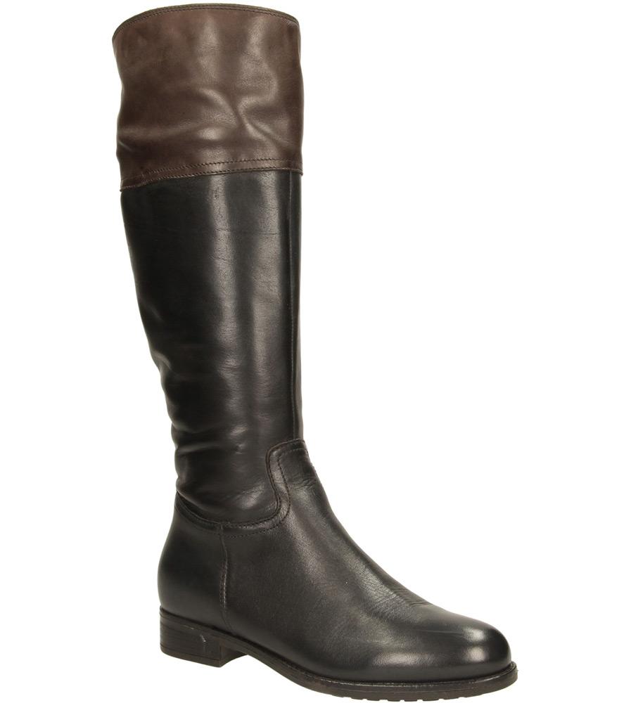 Damskie KOZAKI LANQIER 33C603 czarny;brązowy;
