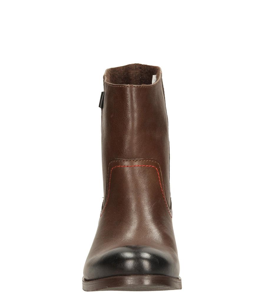 Damskie BOTKI NESSI 55704 brązowy;;
