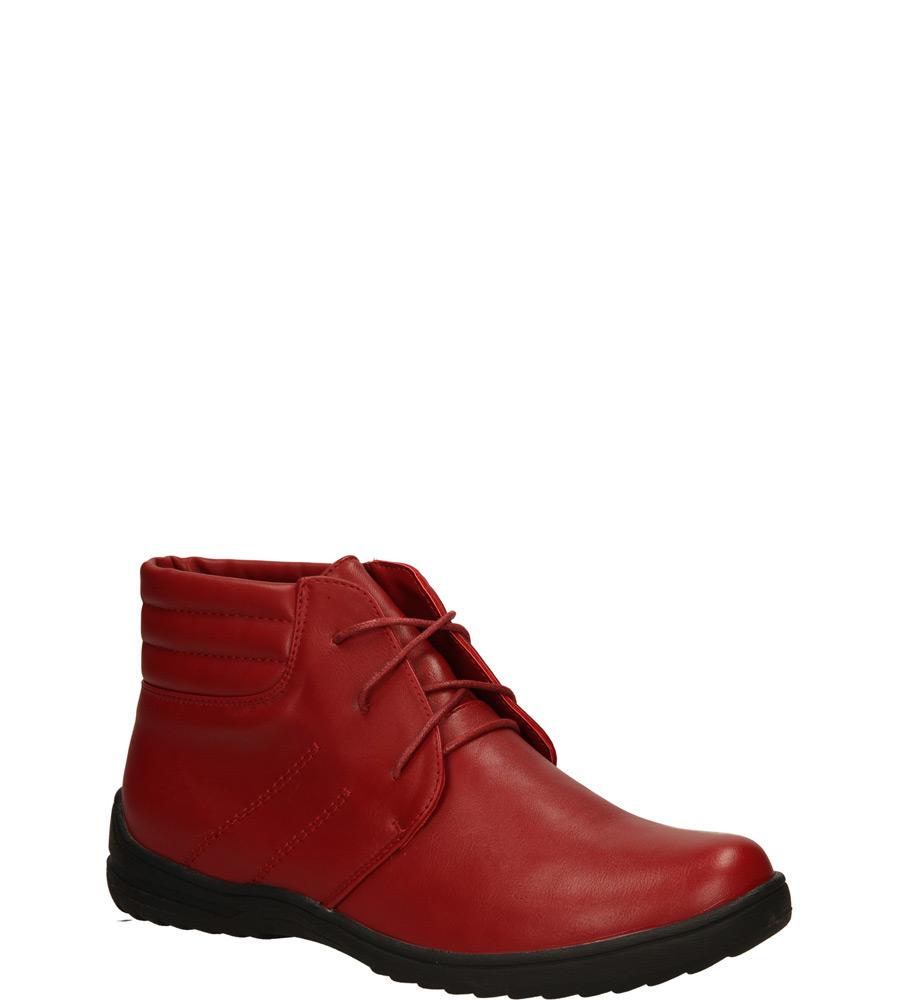 Damskie BOTKI SERGIO LEONE 2869 czerwony;;
