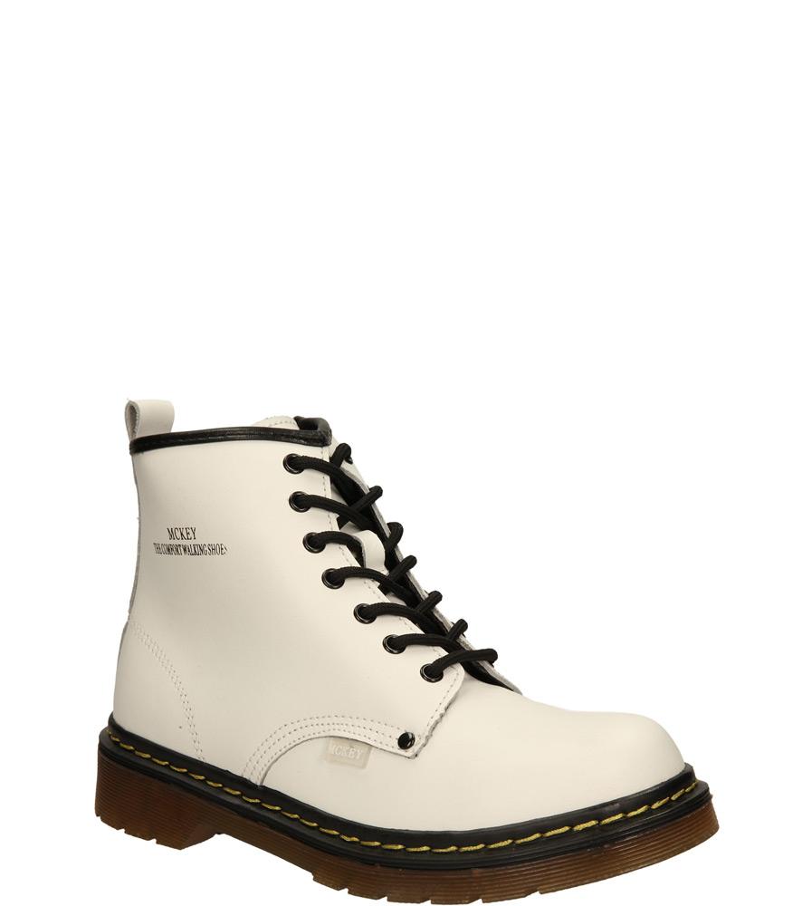 Damskie TRZEWIKI MCKEY R14-D-GL-389 biały;;