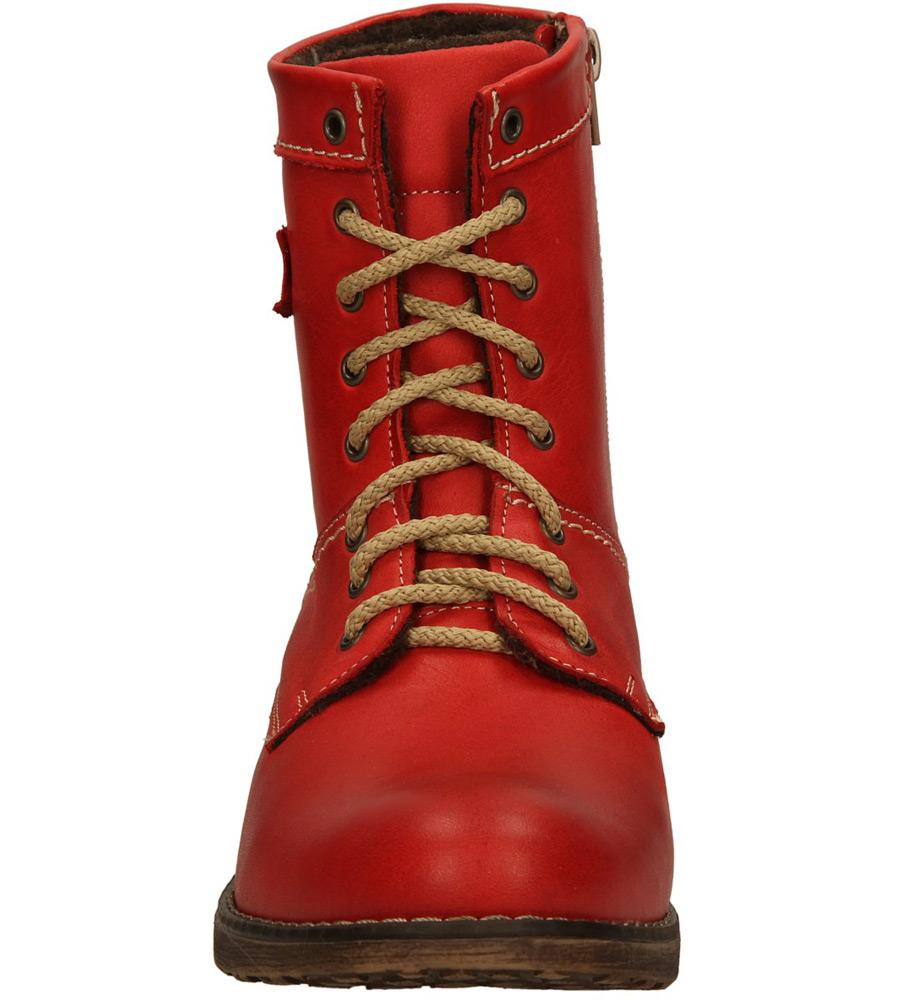Damskie BOTKI AMULET 227A czerwony;;