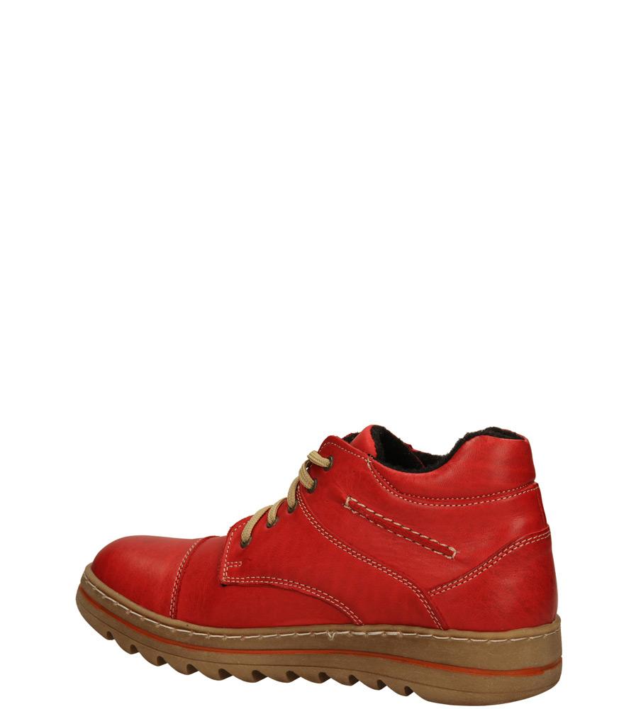 Damskie BOTKI AMULET 230B czerwony;;
