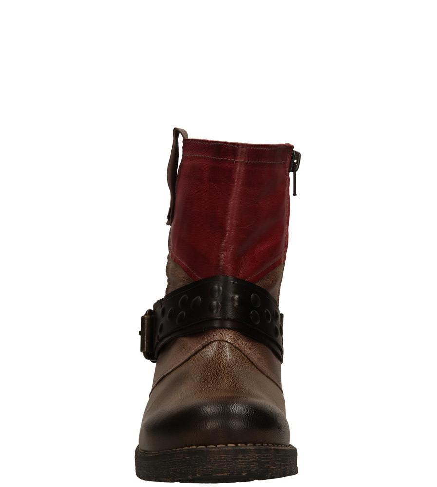 Damskie BOTKI BERTUCHI 200 brązowy;bordowy;