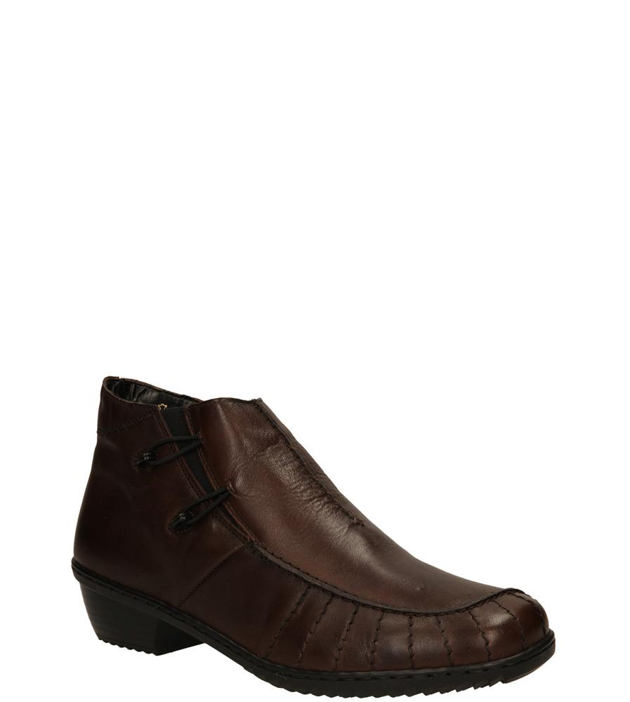 Damskie BOTKI RIEKER M1693-25 brązowy;;