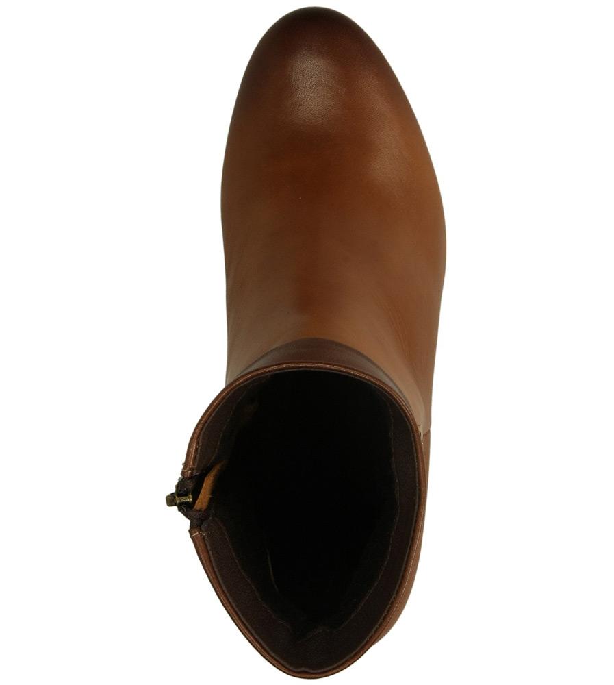 Damskie BOTKI AGA 2141 brązowy;;