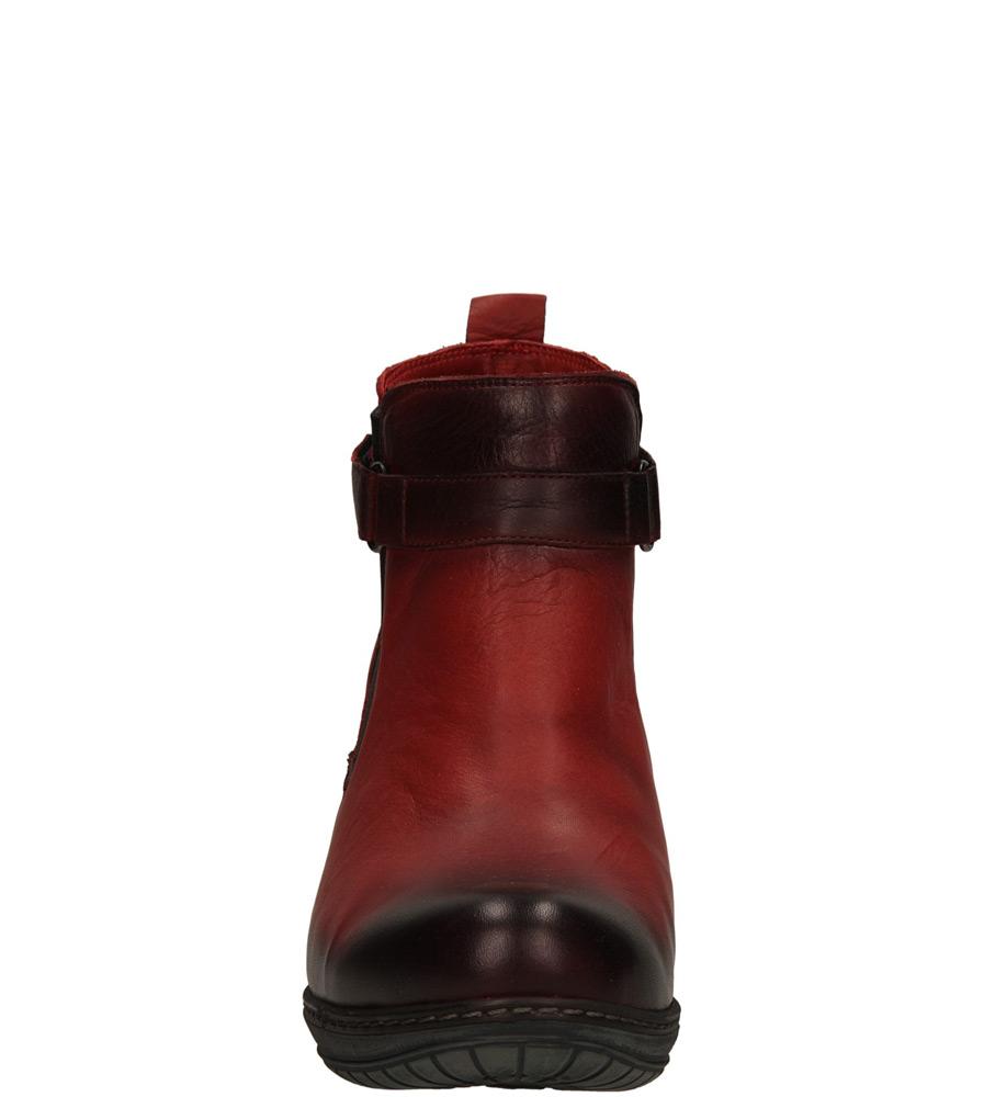 Damskie BOTKI LANQIER 35C38 czerwony;;