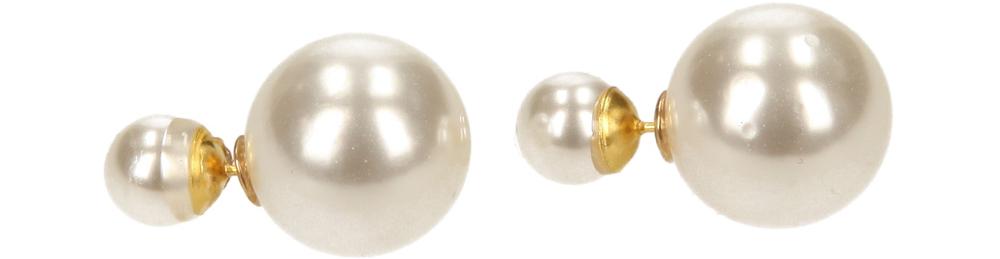 Damskie KOLCZYKI 4037-1 złoty;biały;