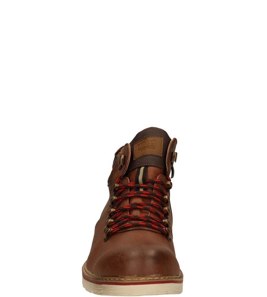 Męskie TRZEWIKI CASU MXC6713-W brązowy;;