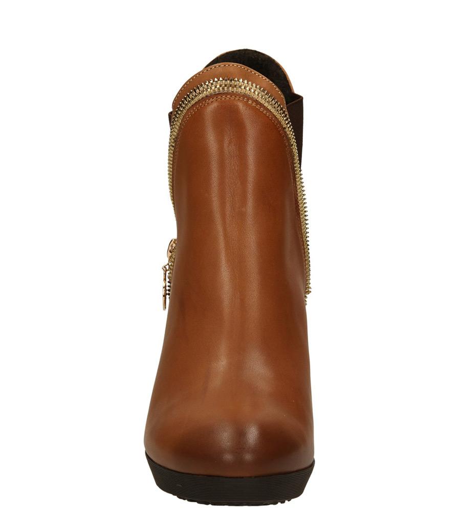 Damskie BOTKI AGA 2120 brązowy;;