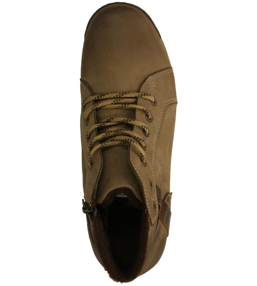 Męskie TRZEWIKI KACPER 3-3717 beżowy;brązowy;