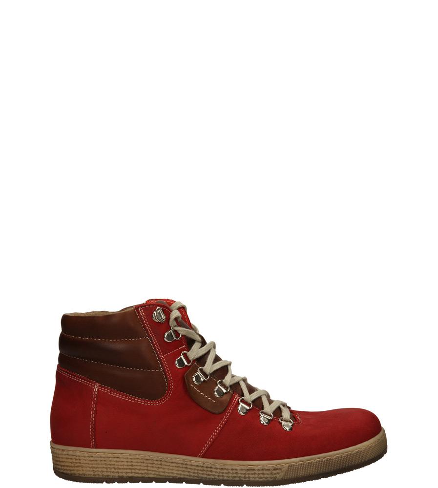 Męskie TRZEWIKI DUO MEN 470 czerwony;brązowy;