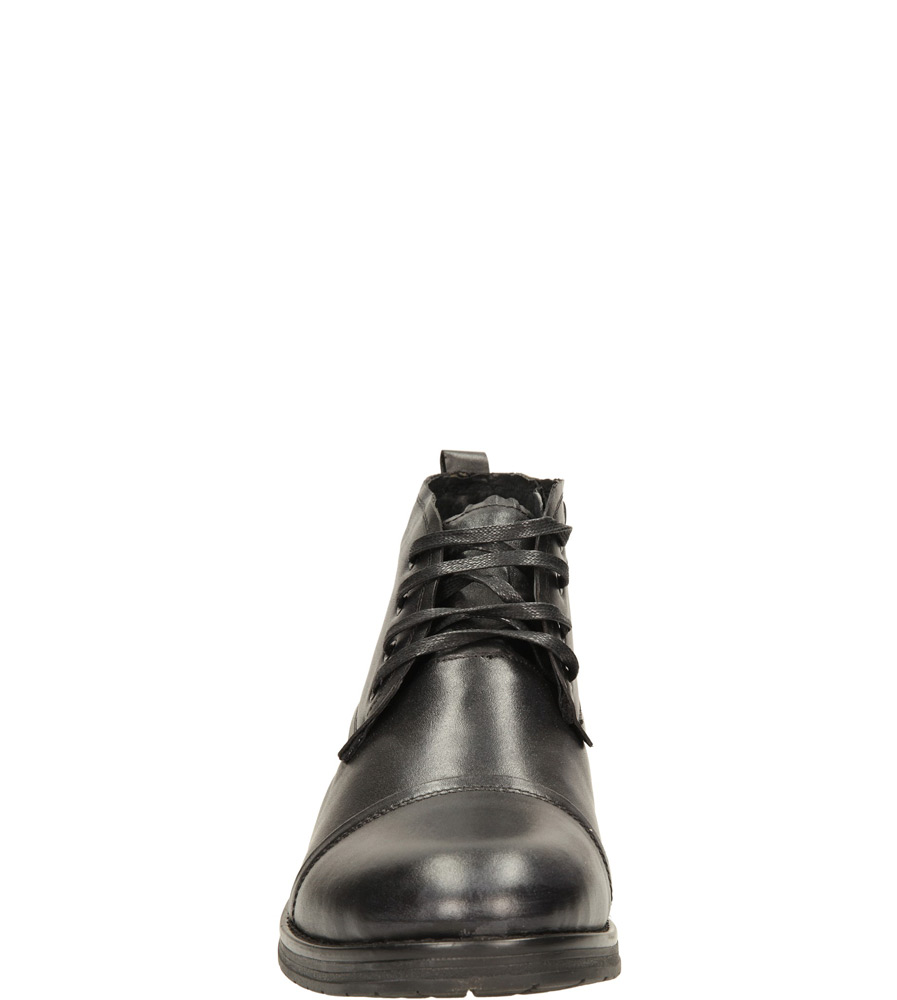 Męskie TRZEWIKI MCKEY R14-M-P-418 czarny;;