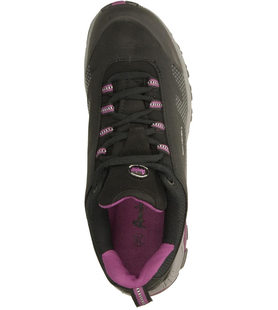 Damskie SPORTOWE AMERICAN 1020D560 czarny;fioletowy;