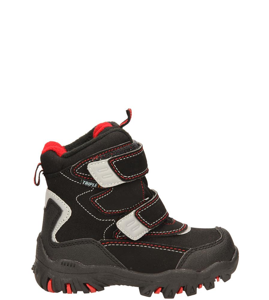 Dziecięce TRZEWIKI AMERICAN 302SB902 czarny;czerwony;