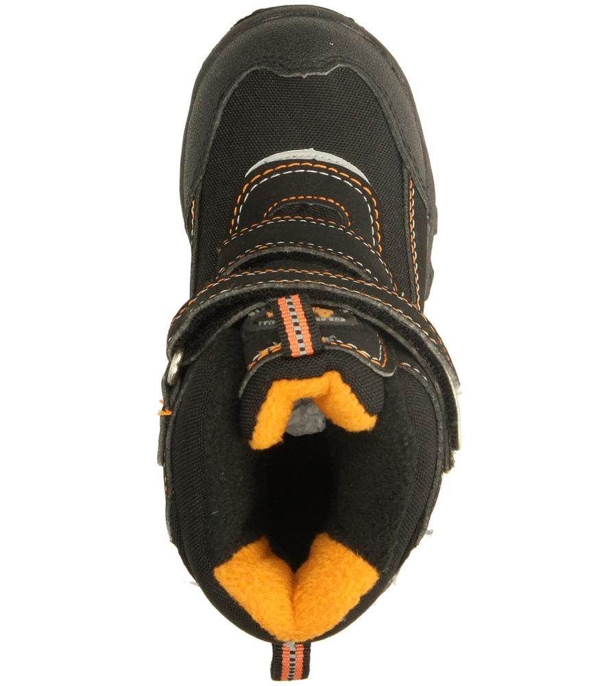 Dziecięce TRZEWIKI AMERICAN 302SB902 czarny;pomarańczowy;
