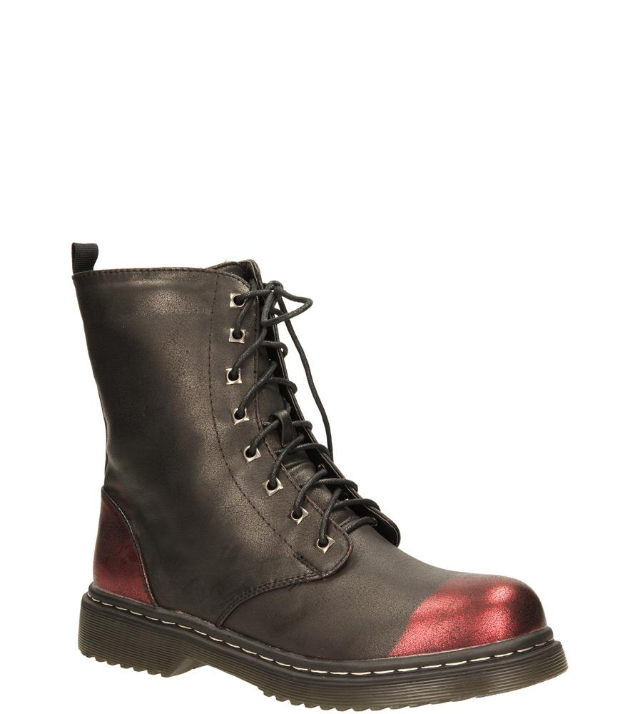 Damskie TRZEWIKI AMERICAN A1076-2W czarny;bordowy;