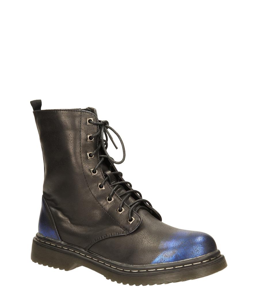 Damskie TRZEWIKI AMERICAN A1076-2W czarny;niebieski;