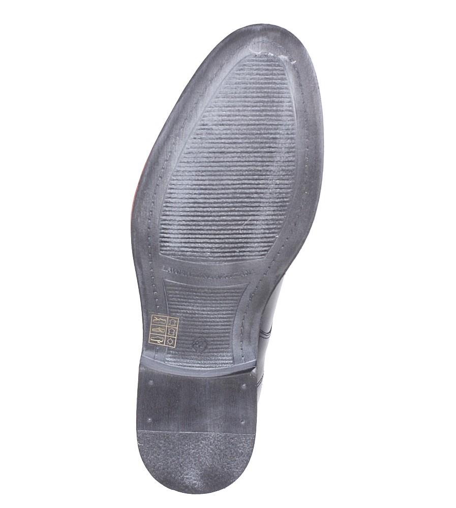 Wizytowe skórzane sznurowane Casu 224 wys_calkowita_buta 9 cm