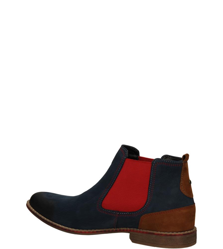 Męskie SZTYBLETY CASU AGDA 399 niebieski;czerwony;brązowy