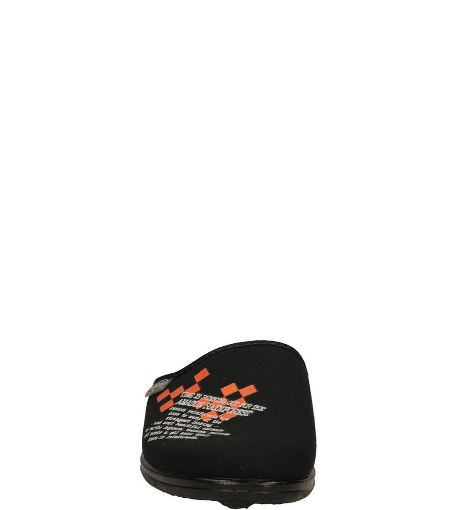 Męskie OBUWIE DOMOWE BEFADO 201Q085 niebieski;czarny;pomarańczowy