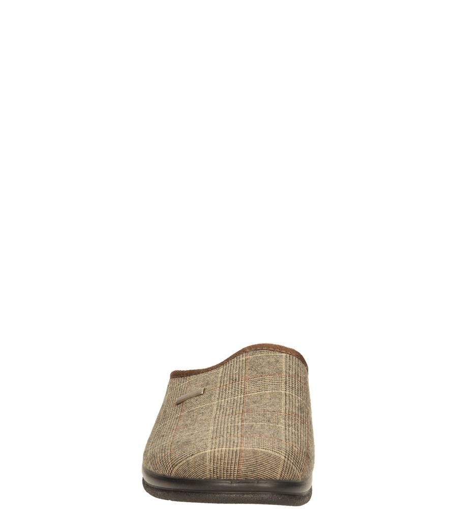 Męskie OBUWIE DOMOWE INBLU PO-G9S brązowy;czarny;