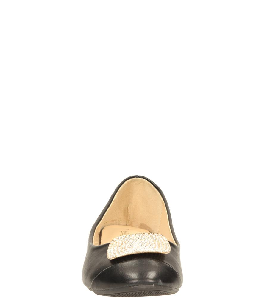 Damskie BALERINY CASU CH-22003 czarny;;