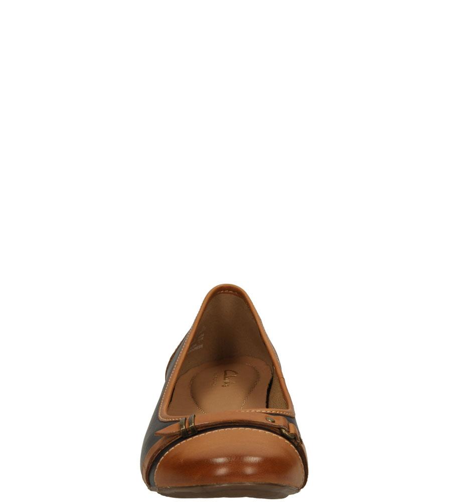 Damskie BALERINY CLARKS HENDERSON BIRD 2610804 niebieski;brązowy;