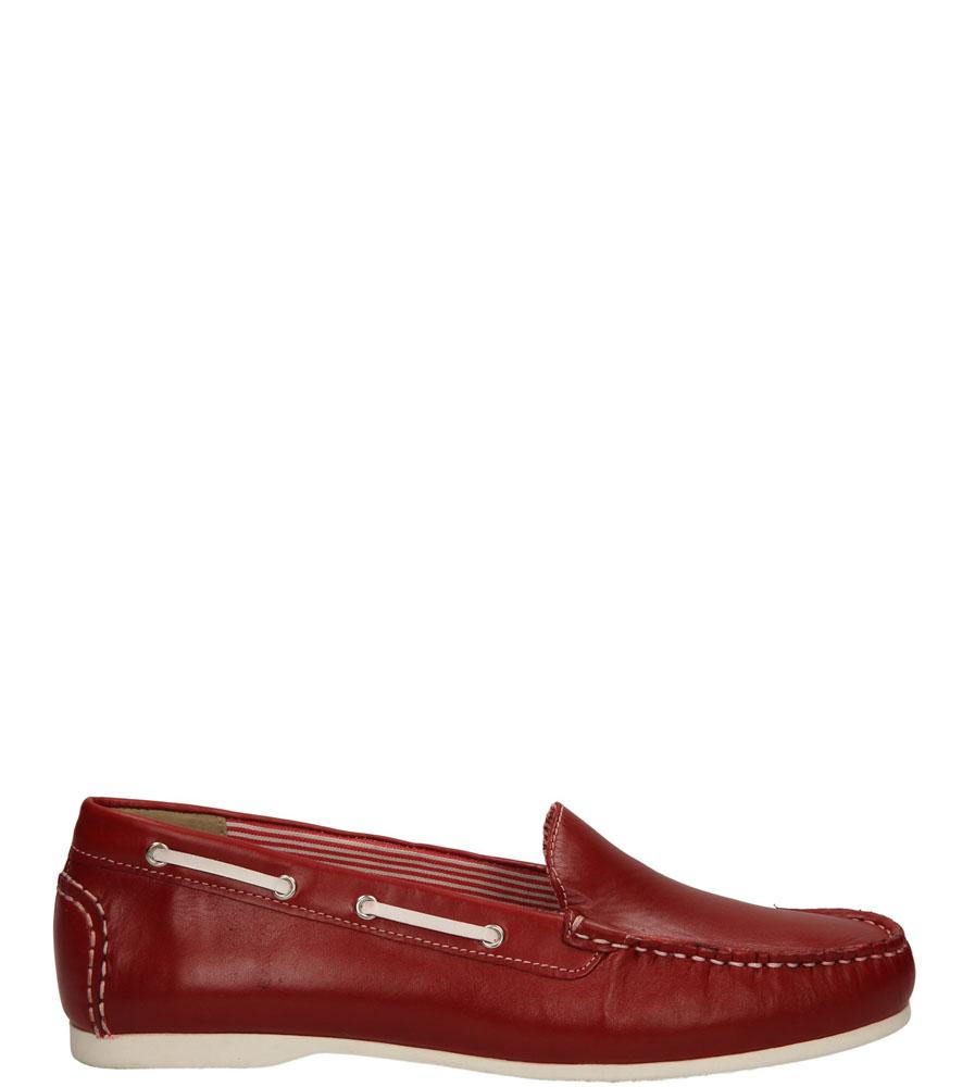 Damskie MOKASYNY CAPRICE 9-24651-24 czerwony;biały;