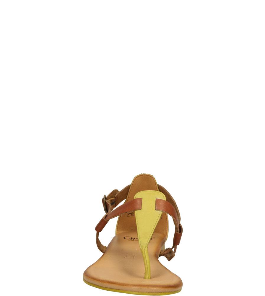 Damskie SANDAŁY CAPRICE 9-28105-24 żółty;brązowy;