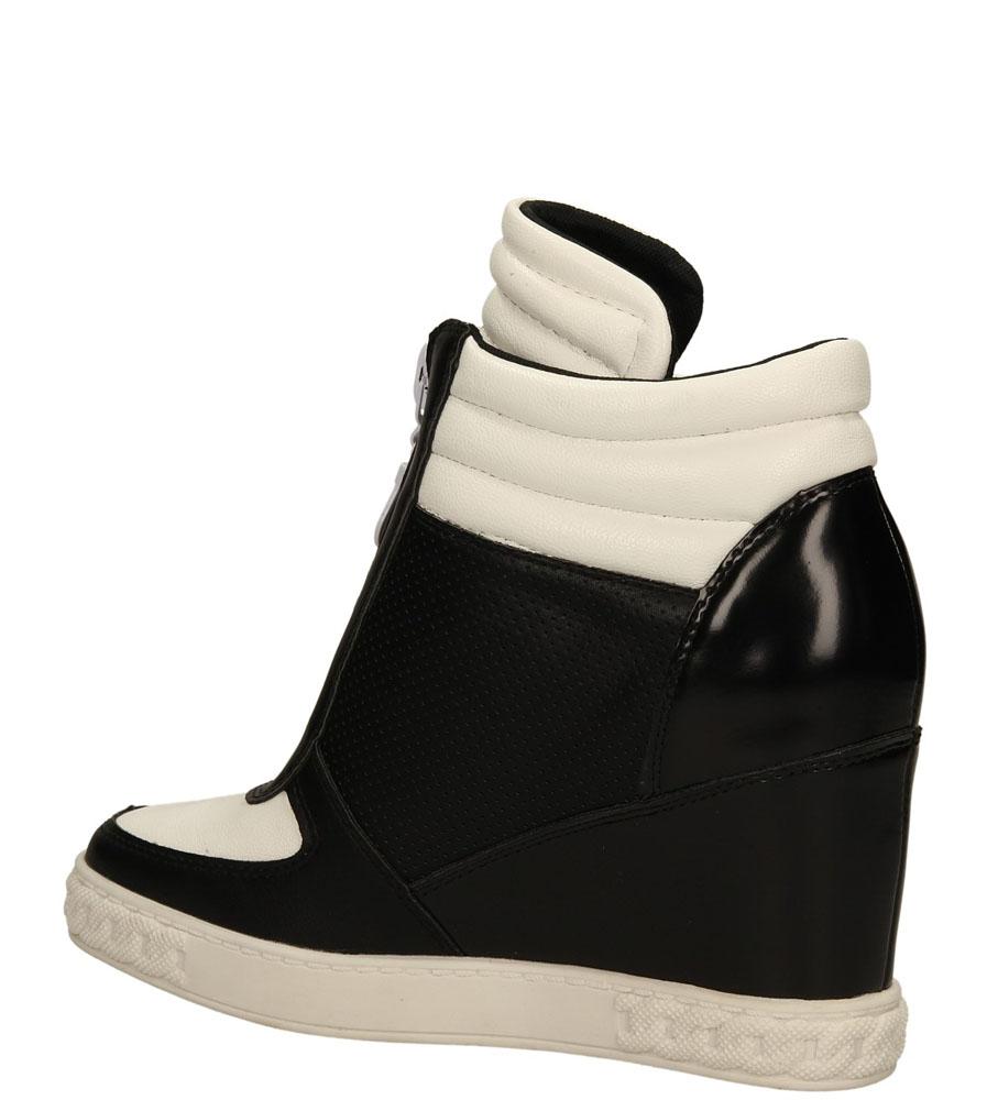 Damskie SNEAKERSY CASU VICES Y609 czarny;biały;