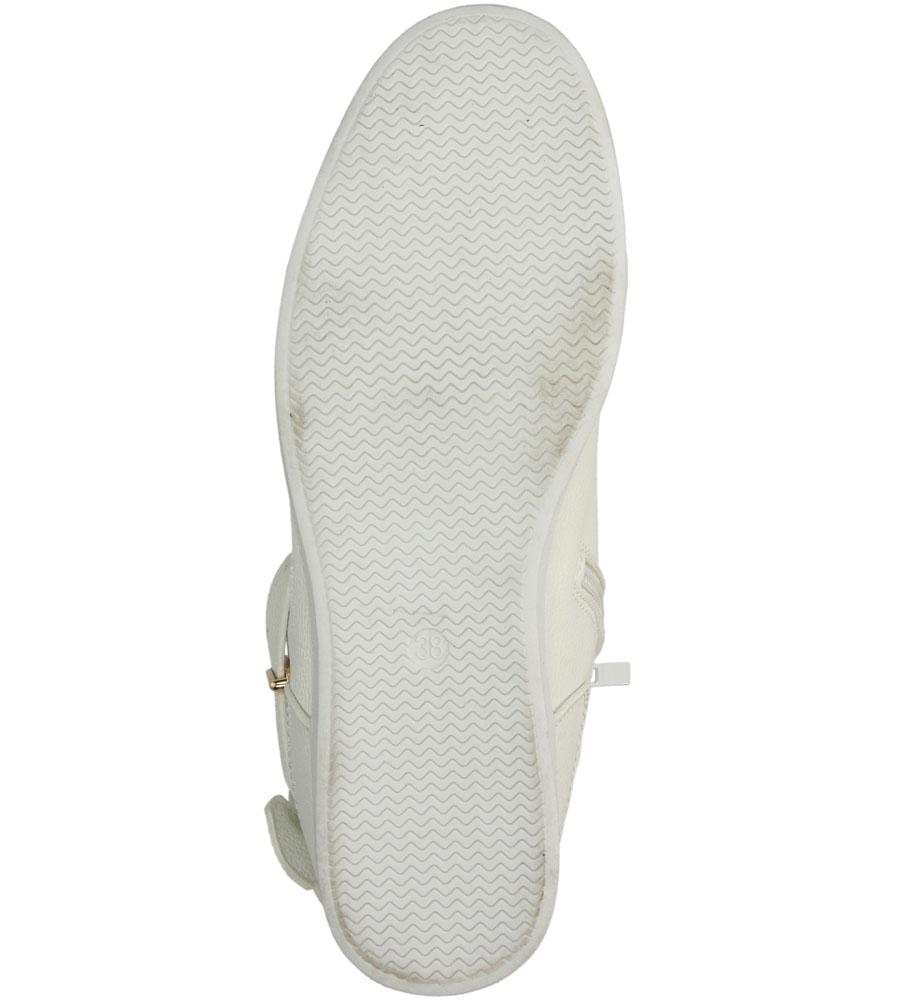 Damskie TRAMPKI CASU VICES Y613 biały;;