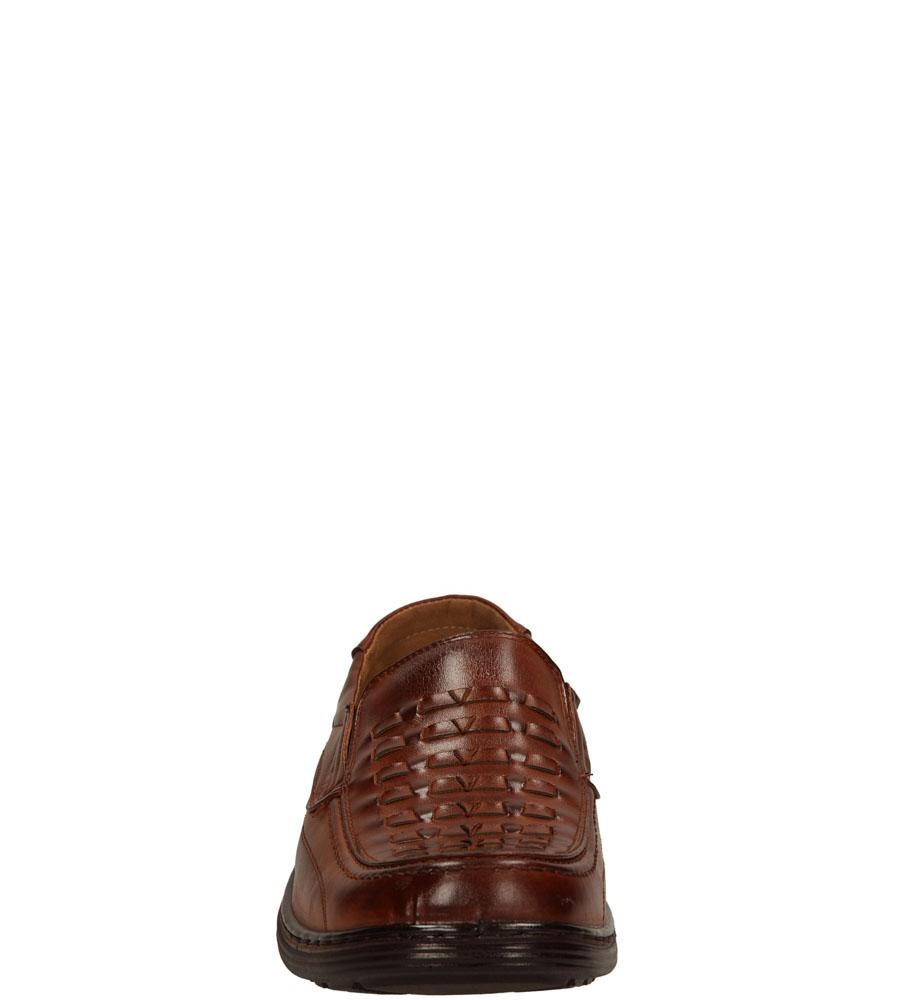 Męskie MOKASYNY CASU L1538 brązowy;;