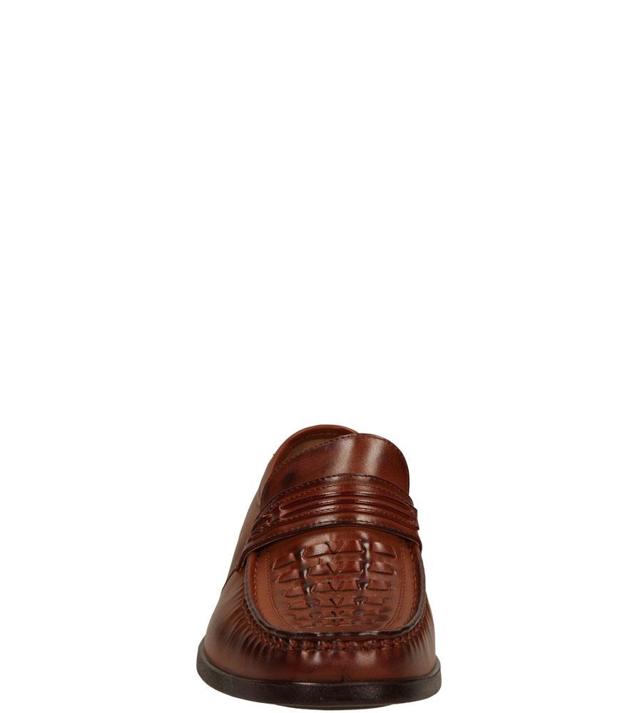 Męskie MOKASYNY CASU L1536 brązowy;;