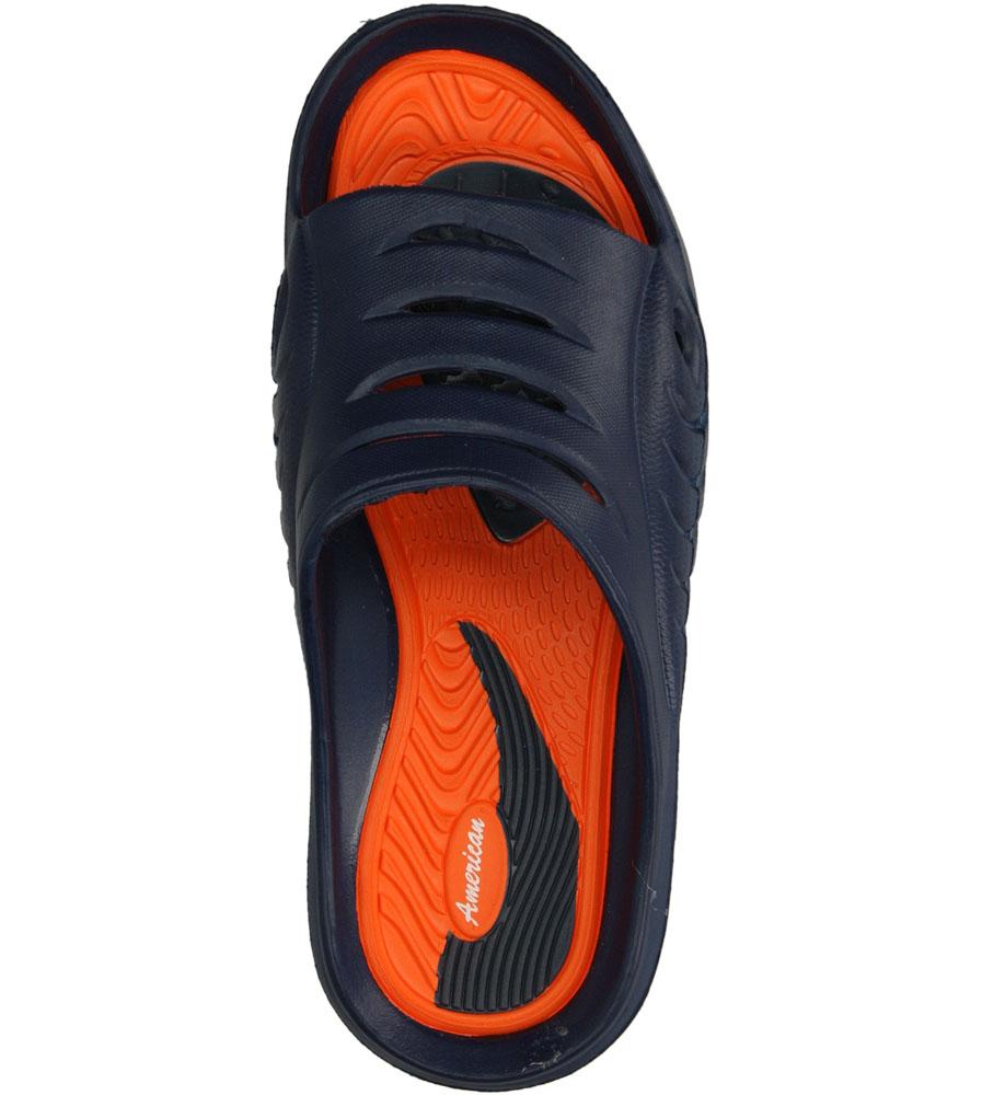 Dziecięce KLAPKI AMERICAN A083-1406068 niebieski;pomarańczowy;