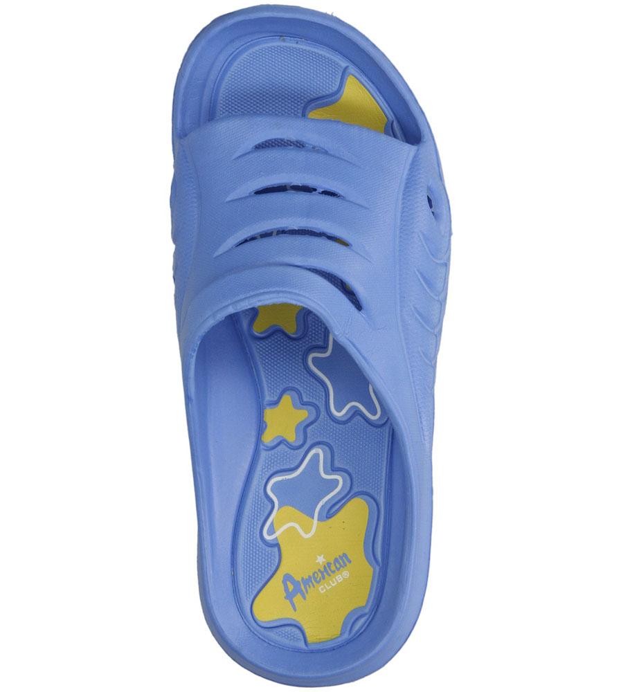 Dziecięce KLAPKI AMERICAN A083-140627-13C niebieski;żółty;