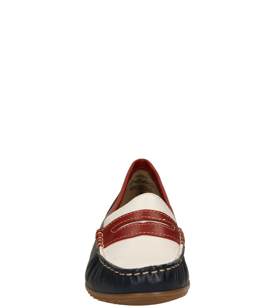 Damskie MOKASYNY CAPRICE 9-24659-24 niebieski;biały;czerwony