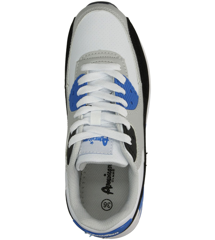 Damskie SPORTOWE AMERICAN 7205 biały;niebieski;
