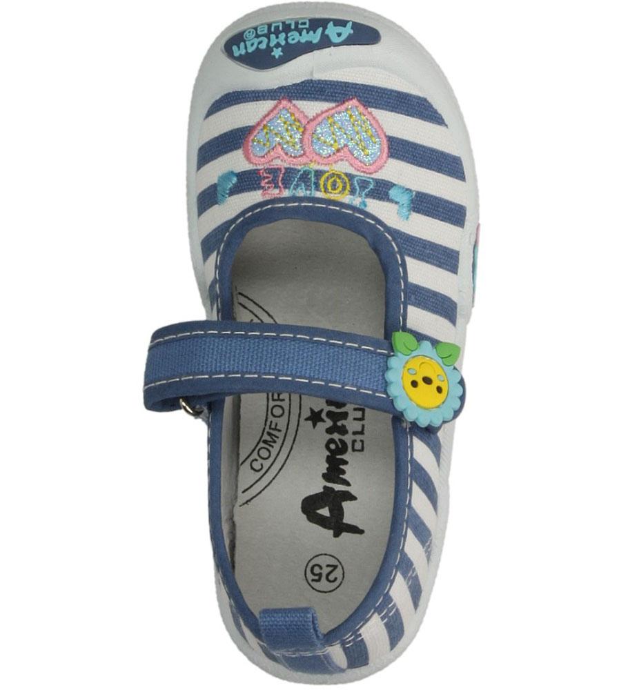 Dziecięce TRAMPKI AMERICAN TEN33/2015 niebieski;;
